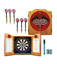 Trademark Games™ Brown University Dart Cabinet with Darts and Board