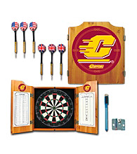 Trademark Games™ Central Michigan University Dart Cabinet w/ Darts and Board