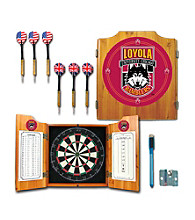 Trademark Games™ Loyola University Chicago Dart Cabinet with Darts and Board