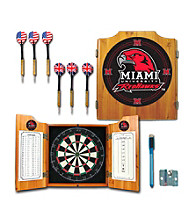 Trademark Games™ Miami University, Ohio Dart Cabinet w/ Darts and Board
