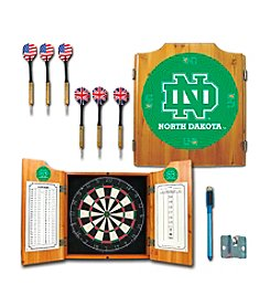 NCAA® University of North Dakota Dart Cabinet with Darts and Board