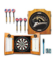 Trademark Games™ Western Michigan U Dart Cabinet Includes Darts and Board