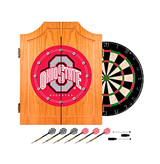 Trademark Games™ Ohio State University Dart Cabinet Includes Darts and Board