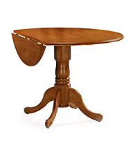 International Concepts Round Wood Dual Drop Leaf Table