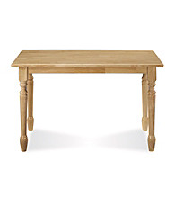 International Concepts Natural Finish Solid Wood Table with Spindle Legs