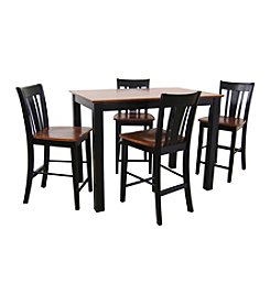 International Concepts Shaker Styled Black & Cherry Counter Height Dining Collection
