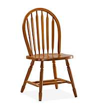 International Concepts Windsor High Arrowback Oak Finished Wood Chair