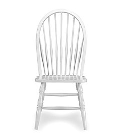 International Concepts Tall Linen White Windsor Wood Side Chair