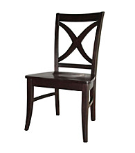 International Concepts Set of 2 Salerno Wood Dining Chairs