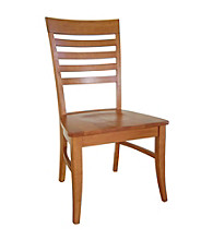 International Concepts Set of 2 Roma Wood Dining Chairs