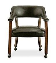 International Concepts Antique Cherry & Dark Brown Castor Dining Chair