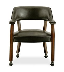 International Concepts Antique Cherry & Dark Brown Castor Dining Chair