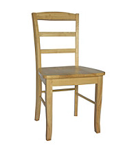 International Concepts Set of 2 Madrid Wood Ladderback Dining Chairs