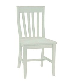 International Concepts Set of 2 Schoolhouse Wood Chairs