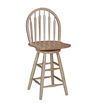 International Concepts Windsor Arrowback Wood Swivel Stool