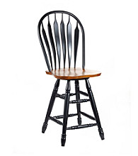 International Concepts Windsor Steambent Arrowback Wood Swivel Stool