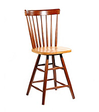 International Concepts Copenhagen Wood Swivel Stool