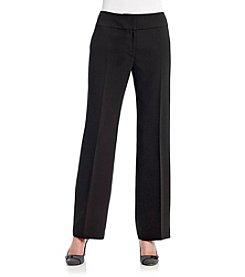 Kasper® Crepe Solid Zip-Front Pant