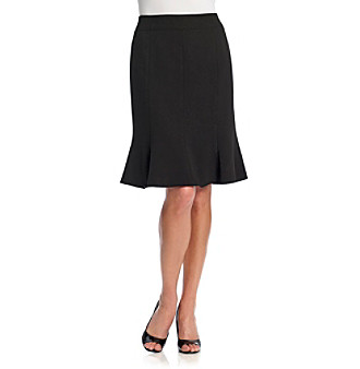 Kasper® Black Crepe Panelled Waistband Skirt