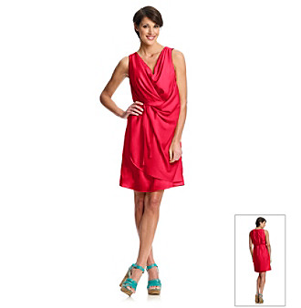 Ellen Tracy® Draped Rose Sheath