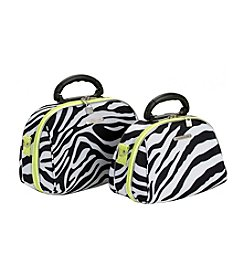 Luca Vergani® 2-pc. Cosmetic Set - Lime Zebra
