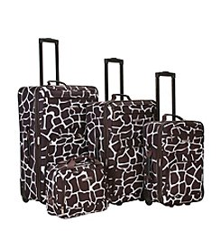 Rockland 4-pc. Giraffe Print Luggage Set