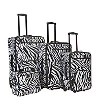 Rockland 4-pc. Zebra Print Luggage Set