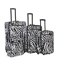 Rockland 4-pc. Zebra Print Luggage Set