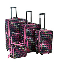 Rockland 4-pc. Heart Print Luggage Set