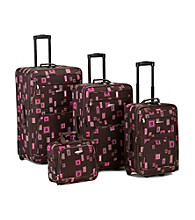 Rockland 4-pc. Chocolate Luggage Set