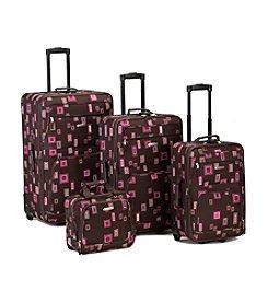 Rockland 4-pc. Chocolate Luggage Set