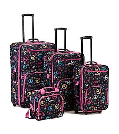 Rockland 4-pc. Peace Print Luggage Set
