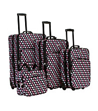 Rockland 4-pc. Multi Heart Luggage Set