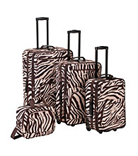 Rockland 4-pc. Brown Zebra Print Luggage Set
