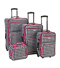 Rockland 4-pc. Pink Kensington Luggage Set