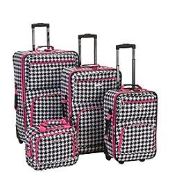 Rockland 4-pc. Pink Kensington Luggage Set
