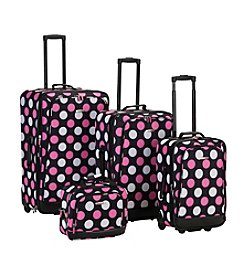 Rockland 4-pc. Multi Pink Dot Luggage Set