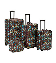 Rockland 4-pc. Brown Leaf Luggage Set