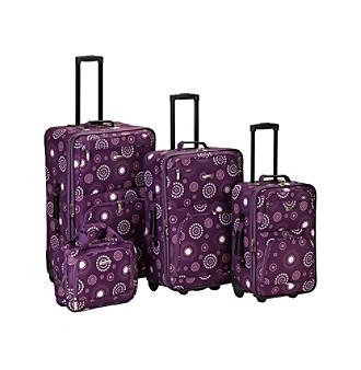 Rockland 4-pc. Purple Pearl Luggage Set