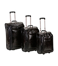 Rockland 3-pc. Crocodile Style Luggage Set