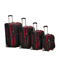 Rockland Polo Equipment Varsity 4-pc. Black Luggage Set