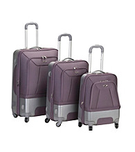 Rockland 3-pc. Rome Hybrid EVA/ABS Lavender Luggage Set