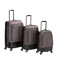 Rockland 3-pc. Milan Hybrid EVA/ABS Brown Luggage Set