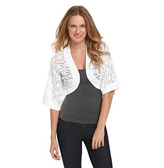 Jeanne Pierre® Open-Stitch Cocoon Cardigan Sweater
