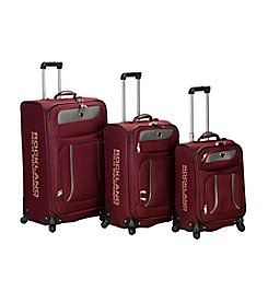 Rockland Polo Equipment Navigator 3-pc. Burgundy Spinner Luggage Set