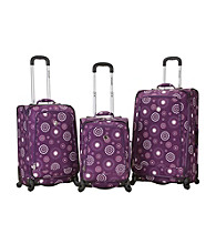Rockland Polo Equipment Fusion 3-pc. Purple Pearl Luggage Set