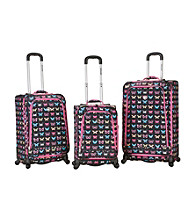 Rockland Polo Equipment Fusion 3-pc. Butterfly Luggage Set