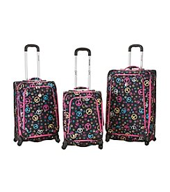 Rockland Polo Equipment® Fusion Peace 3-pc. Luggage Set
