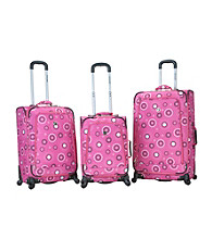 Rockland Polo Equipment Fuison 3-pc. Pink Pearl Luggage Set