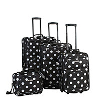 Rockland 4-pc. Polka Dot Luggage Set